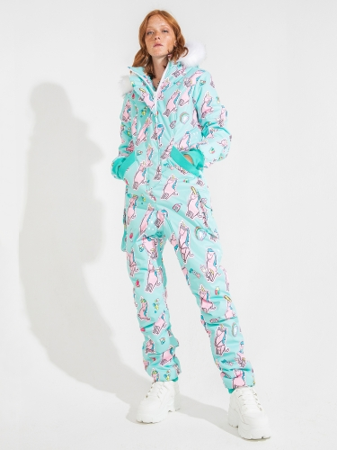 WOMAN'S OVERALL BAD_UNICORN MINT