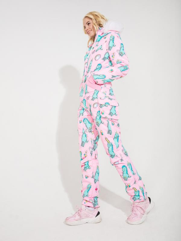 WOMAN'S OVERALL BAD_UNICORN PINK