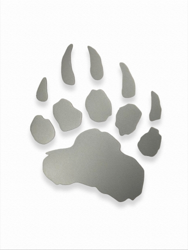 "LIGHT-RETURNING STICKER ""LED PAW"" Large"
