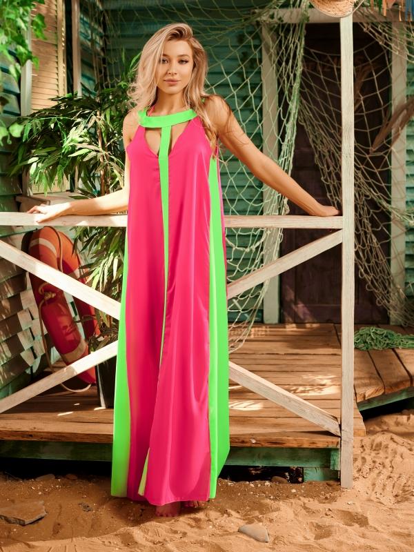 Платье пляжное Розовое